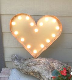 Make? Marquee lighted Heart 15 in. Copper Finish by KDBRusticVintage, $95.00