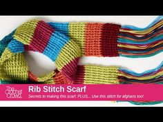 Learn how to crochet a rib stitch scarf that is really easy. This pattern is based on the Mood Scarf of changing the colours to make your mood of the day. Le...
