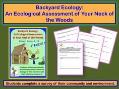 In this free teaching lesson on ecology and the environment, students investigate various components about their own local area by completing a survey of their community.