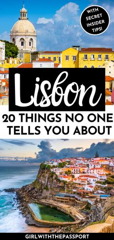 Check out these 20 things that no one ever tells you about traveling to Lisbon, Portugal. Learn about some of my most epic travel fails and use these secret Lisbon travel tips to plan an the perfect trip to Lisbon, Portugal. Best Beaches In Portugal, Portugal Vacation, Places In Portugal, Portugal Travel Guide, Europe Destinations, Europe Travel Tips, Spain Travel, European Travel, Viajes
