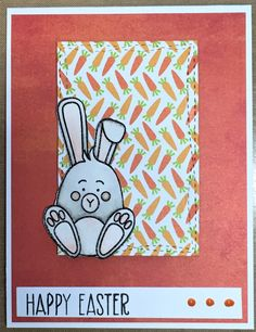 Easter card using Simon Says Stamp March 2017 card kit.
