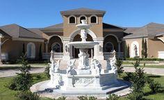 Casa Bella Estate Front Fountain