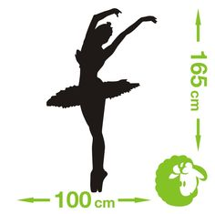 NAKLEJKA NAKLEJKI na ścianę SZABLON baletnica (4875196805) - Allegro.pl - Więcej niż aukcje.