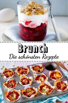 Brunch recipes for cozy mornings- Brunch-Rezepte für gemütliche Vormittage You are planning one with dear friends or the whole family? We& put together delicious brunch recipes for you. Brunch Recipes, Appetizer Recipes, Breakfast Recipes, Dessert Recipes, Desserts, Brunch Party, Easter Brunch, Sunday Brunch, Christmas Brunch