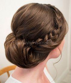 fonott menyasszonyi frizurák, fonott esküvői frizura - fonott esküvői frizura