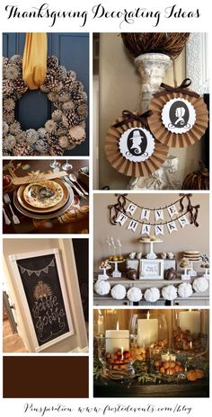 Thanksgiving Decorating Ideas  #thanksgiving  http://www.thetomkatstudio.com/thanksgivingprintables/