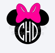 Minnie Mouse Personalized Monogram Vinyl by RidgemontHighStore