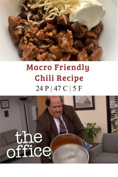 This is my go to macro friendly chili recipe! It's so easy to make, really cheap (holla at you healthy college students!) and freezes really well! It's a great meal prep recipe because you can make a big batch and throw it in the freezer. Easily a gluten free macro meal plan recipe and even a dairy free macro meal plan recipe. #chili #macros #macrorecipes #macrofriendly Healthy Recipes On A Budget, Clean Eating Recipes, Easy Meal Prep, Easy Meals, Macro Meal Plan, Dairy Free, Gluten Free, Macros Diet, Meal Prep For Beginners