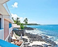 Oceanfront custom home off world famous Ali'i drive on the Big Island of Hawaii. Fall asleep and wake up to the ocean each and everyday