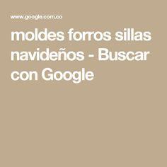 moldes forros sillas navideños - Buscar con Google