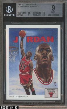 787c4927b56e Michael Jordan 1991-92 Upper Deck TC  75 BGS 9 Basketball Cards