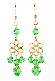 Jewelry Making Idea: Spring Drop Earrings (eebeads.com)