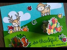 Lawn Fawn | Lift the Flap Card | Laura's 10K Subscriber Hop - YouTube