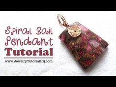 DIY Spiral Bail Wire Wrapped Focal Pendant Tutorial / Free jewelry making video. Learn a fun wire wrapping technique!