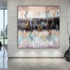 Extra Large Abstract Painting Home Wall Art Modern Oil image 1 Modern Oil Painting, Large Painting, Bathroom Wall Art, Home Wall Art, Original Paintings, Original Art, Kids Room Paint, Colorful Artwork, Extra Large Wall Art