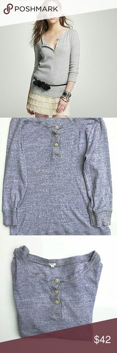 J. Crew Microrib Jaspe Henley Sweater In excellent condition. No signs of wear. Size medium. Smoke and pet free home. Ships within one day. J. Crew Tops Tees - Long Sleeve
