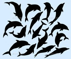 Dolphins Silhouettes - Animals Characters