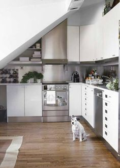 1000 images about kitchens under stairs on pinterest for Kitchen designs under stairs