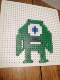 Mike Wasowski- Pyssla BEADS. great crafts to do with kids. you can get the beads at ikea