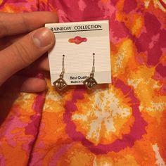 Silver Earrings Brand new cute silver diamond shaped dangling earrings. Jewelry Earrings