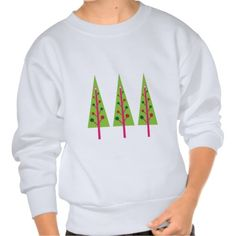 Christmas Trees Pullover Sweatshirt #Christmas #Tree #Tshirt #Tee