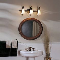 Scroll 3-Light With Glass by Hubbardton Forge