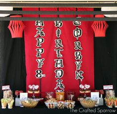Banner Ninja Birthday Party