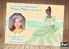 Princess Tiana Invitation on Etsy, $7.25