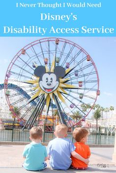 Disney's Disability Access Service is there to help guests enjoy their Disneyland or Walt Disney World vacations. I never thought I would need it, but I was sure happy it was there when we did need it. Learn how it impacted our visit and why we need to st