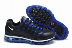 Nike Air Max 360 2009 Mens Shoes Black Blue 1eqpx