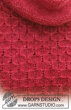 DROPS 117-39 - Robe DROPS en « Alpaca » et « Kid-Silk », manches ¾ et empiècement et bordure au point de ruches. Du XS au XXXL. - Free pattern by DROPS Design