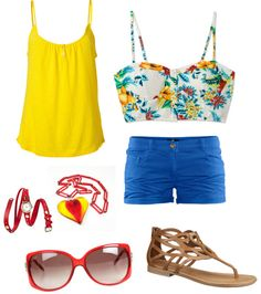 """""""Day at the beach"""" by macy-moo-johnson on Polyvore"""