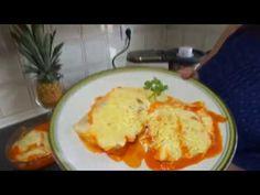 Receta de Bacalao en salsa de Pimientos y Bechamel Monsieur Cuisine Plus Lidl Silvercrest - YouTube Lidl, Chicken, Meat, Breakfast, Youtube, Grated Cheese, Garlic, Easy Food Recipes, Food Processor