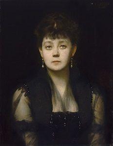 Ossip Schubin (17 juni 1854 – 10 februari 1934) - Portret door Karl Gussow, ca. 1887