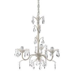 Guest room   Seed Sprout - Three Bulb Flower Petal Chandelier, White
