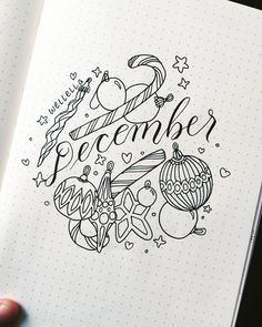Bujo - My December Bullet Journal Set Up - - Have you got your bullet journal set up for December yet? These past few months have been so busy that I haven't really done a pretty theme in my bullet journal…. in AGES! Read more. Bullet Journal Christmas, December Bullet Journal, Bullet Journal Set Up, Bullet Journal Cover Page, Bullet Journal Layout, Bullet Journal Ideas Pages, Journal Covers, Bullet Journal Inspiration, Bullet Journal Calendrier
