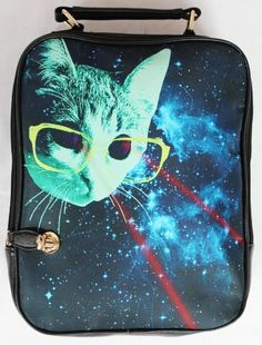 Cat With Glasses Backpack bag