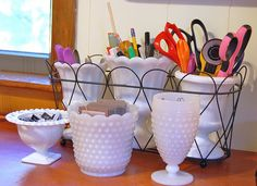 milkglass organizers