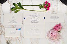 Full Wedding Invitation Suite, Navy and White | DC Fairmont Wedding | Kurstin Roe Photography