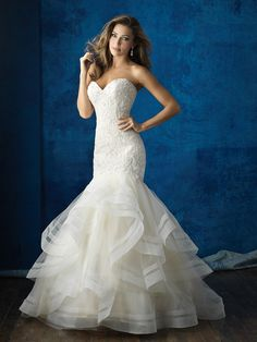 9364 dress (Fit & Flare, Sweetheart,  Strapless ,  Sleeveless ) from  Allure Bridals 2016, as seen on dressfinder.ca. Click for Similar & for Store Locator.