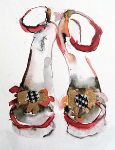 orange shoes by bridget davies, via Flickr