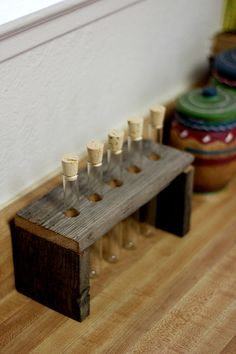 Spice Racks  Barnwood Spice jar rack  by BessiesCreations on Etsy, $42.00