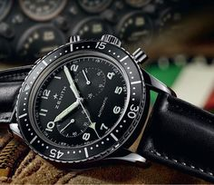 The @zenithwatches Heritage Cronometro TIPO CP-2 is based on the watches delivered to Italian Navy and Air Force pilots by Roman distributor A. Cairelli throughout the 1960s and '70s.  It is limited to 1,000 pieces, has a 43-mm case in stainless steel, a black calfskin leather strap and is powered by the self-winding El Primero 4069. More @ http://www.watchtime.com/wristwatch-industry-news/watches/zenith-heritage-cronometro-tipo-cp-2-an-italian-renaissance/ #zenithwatches #watchtime…