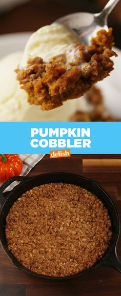 Pumpkin Cobbler will make you feel warm and cozy all fall long. Get the recipe at Delish.com.