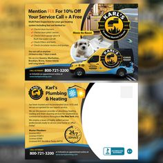 Creating an aggressive post card for a reputable service company by harles .