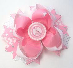 Angelina Ballerina Boutique Handmade Hair Bow,   Baby, Toddler, Girls Hair Bows,  Angelina Ballerina Hair Clips, Hair Accessories, Ballerina by JustinesBoutiqueBows on Etsy https://www.etsy.com/listing/226745959/angelina-ballerina-boutique-handmade