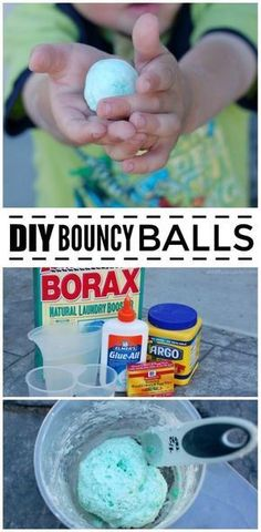 Make DIY bouncing balls with your kids and share the fun of science in the process! A great STEM activities for the little ones. via @acraftyspoonful