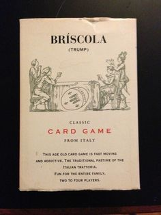 I want to be sitting around the kitchen table playing briscola with my Grandparents again. I also played with my Uncle and cousins. I had so many happy memories playing briscola with my family. I miss those days so much.