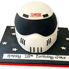 Crash Helmet Cake