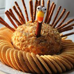 Thanksgiving Turkey Cheese Ball - Crafts a la mode
